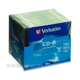 Диск CD-R Verbatim 700MB 52x Extra Slim (43348)