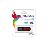 USB флеш 16Gb ADATA  C008  Black/Red