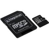 Карта пам'яті microSDHC  16Gb (Class 10)  Kingston  UHS-I  R45/W10MB/s + SD адаптер