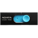 USB флеш 16Gb ADATA  UV220 Black/Blue