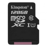 Карта пам'яті microSDXC 128Gb (Class 10)  Kingston  R80MB/s  Canvas Select 100R A1