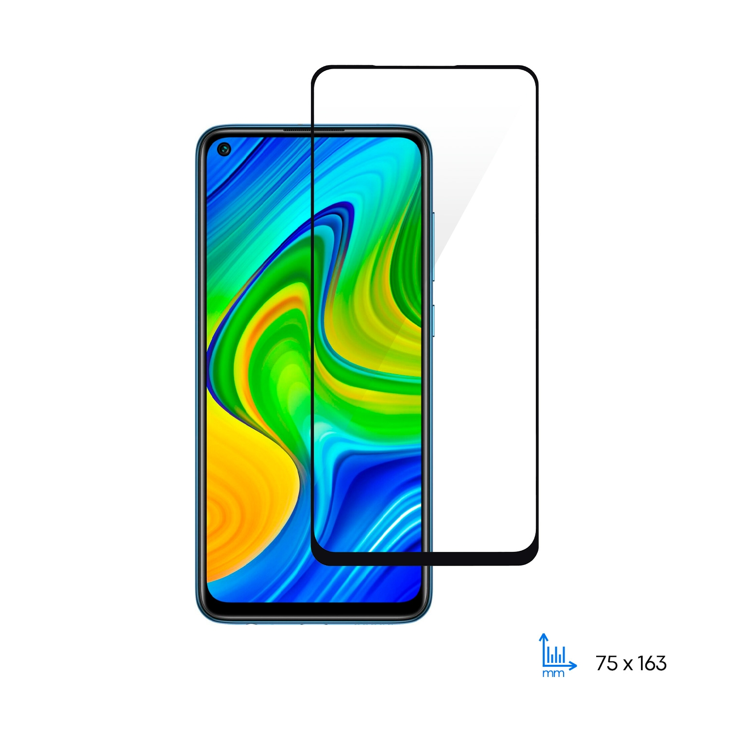 Захисне скло 2E  Basic для Xiaomi Redmi Note 9, 2.5D FCFG, black border