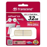 USB 3.0 флеш 32Gb Transcend JF 820 Metal Gold