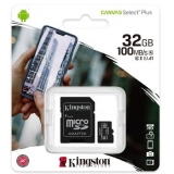 Карта пам'яті microSDHC  32Gb (Class 10) Kingston + SD адаптер