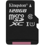 Карта пам'яті microSDXC 128Gb (Class 10)  Kingston  UHS-I  R80MB/s  Canvas Select