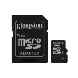 Карта пам'яті microSDHC   8Gb (Class  4)  Kingston + SD адаптер