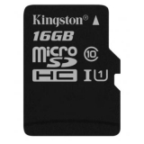 Карта пам'яті microSDHC  16Gb (Class 10)  Kingston  UHS-I  R80MB/s